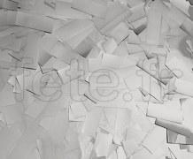 Confettis - Scene - Rectangle - Metal - Ø 55mm - ARGENT