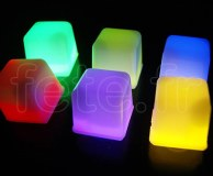 Glacon - Cube - Fluo - 3 X 3 X 3cm - ASSORTIS