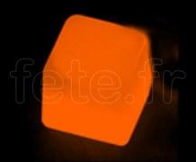 Glacon - Cube - Fluo - 3 X 3 X 3cm - ORANGE
