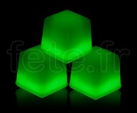 Glacon - Cube - Fluo - 3 X 3 X 3cm - VERT