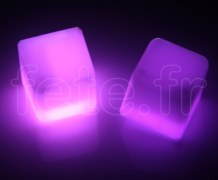 Glacon - Cube - Fluo - 3 X 3 X 3cm - VIOLET