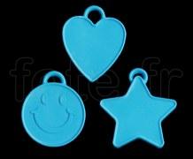 LEST - Poids Plastique pour Ballon en Mylar Individuel - 16g - LEST-BLEU
