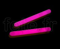 MINI STICK - Batonnet - Fluo - 3.81cm - ROSE