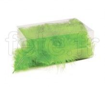 Plumes - Naturelles - Décoration - Table - 10/15cm - 30g VERT
