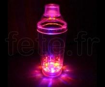 SHAKER - Lumineux à 6 LED - Rainbow Système - Fixe / Clignotante / Rotatif - 56cl - 3 Piles AG13 Fournies MULTICOLORE