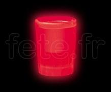 Shooter - Verre - Fluo - 4.4cl - ROUGE