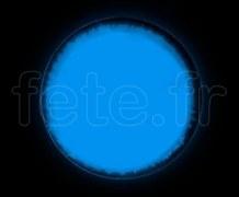 SPOT ROND - Fluo - Ø 47mm - Adhésif - BLEU