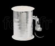Bolduc - Metal - Uni - 250m x 1cm - BLANC