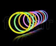 100 BRACELETS - FLUO - Gamme PRO - Ultra Light - 20cm / 5mm - ASSORTIS