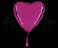 Ballon - Mylar - Coeur - Brillant - Uni - 20cm POURPRE