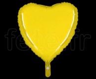 Ballon - Mylar - Coeur - Brillant - Uni - 45cm CITRON