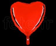 Ballon - Mylar - Coeur - Brillant - Uni - 45cm ROUGE