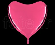 Ballon - Mylar - Coeur - Brillant - Uni - 90cm ROSE