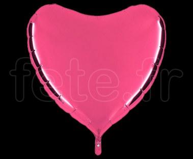 Ballon - Mylar - Coeur - Brillant - Uni - 90cm