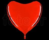 Ballon - Mylar - Coeur - Brillant - Uni - 90cm ROUGE