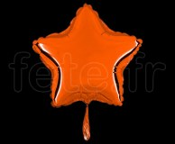 Ballon - Mylar - Etoile - Brillant - Uni - 20cm ORANGE