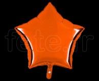 Ballon - Mylar - Etoile - Brillant - Uni - 45cm ORANGE
