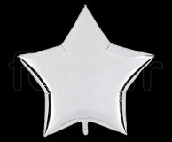 Ballon - Mylar - Etoile - Brillant - Uni - 90cm ARGENT