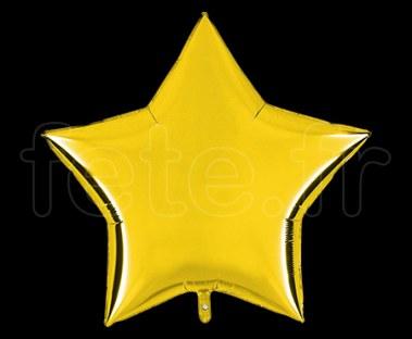 Ballon - Mylar - Etoile - Brillant - Uni - 90cm
