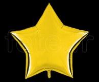 Ballon - Mylar - Etoile - Brillant - Uni - 90cm JAUNE