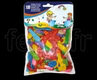 100 Ballons - Latex - Fantaisie - Ø30cm BOMBE-A-EAU