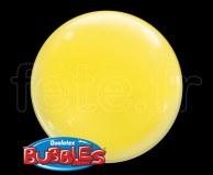 4_Ballons - Bubble - Unis - Sphérique - 38cm JAUNE