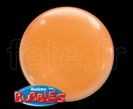 4_Ballons - Bubble - Unis - Sphérique - 38cm ORANGE