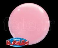 Ballon - Bubble - Unis - Sphérique - 38cm ROSE