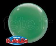 4_Ballons - Bubble - Unis - Sphérique - 38cm VERT-SAPIN