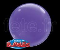 4_Ballons - Bubble - Unis - Sphérique - 38cm VIOLET