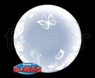 Ballon - Bubble - Déco - Sphérique - 61cm PAPILLON