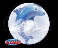 Ballon - Bubble - Double - Sphérique - 61cm DAUPHIN