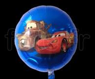 Ballon - Mylar - Rond - Licence - Ø 45cm CARS
