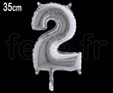 Ballon - Métal - - Chiffre - 35cm