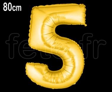 Ballon - Mylar - Or- Chiffre - 80cm