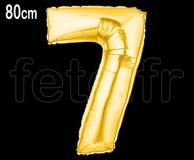Ballon - Mylar - Or- Chiffre - H 80cm 7