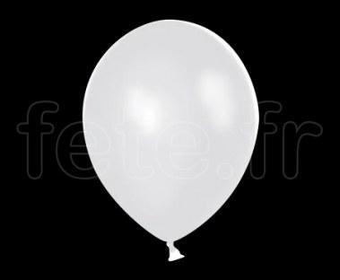100 Ballons - Latex - Unis - Cristal - Ø30cm