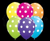 25 Ballons - Latex - Déco - Mat - 30cm POLKA
