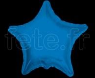 Ballon - Mylar - Etoile - Brillant - Uni - Ø 75cm BLEU