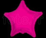 Ballon - Mylar - Etoile - Brillant - Uni - Ø 75cm FUSHIA