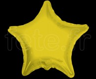 Ballon - Mylar - Etoile - Brillant - Uni - Ø 75cm OR