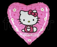 Ballon - Mylar - Rond - Licence - Ø 45cm HELLO-KITTY