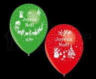 Ballon - Latex - Fantaisie - Ø30cm JOYEUX-NOEL