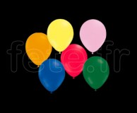 100 Ballons - Latex - Unis - Mat - Ø10cm ASSORTIS