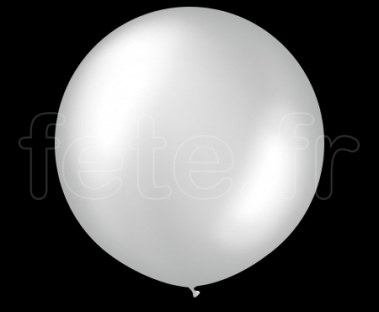 Ballon - Latex - Unis - Nacré - 1m