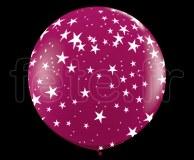 Ballon - Latex - Déco - Mat - 1m ETOILE-BORDEAUX