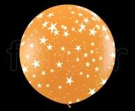 Ballon - Latex - Déco - Mat - 1m ETOILE-ORANGE