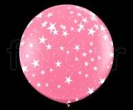 Ballon - Latex - Déco - Mat - 1m ETOILE-ROSE
