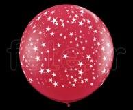 Ballon - Latex - Déco - Mat - 1m ETOILE-ROUGE