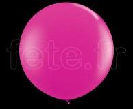 Ballon - Latex - Unis - Nacré - 1m FUSHIA